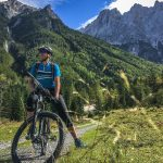 taking a break while riding in julian alps