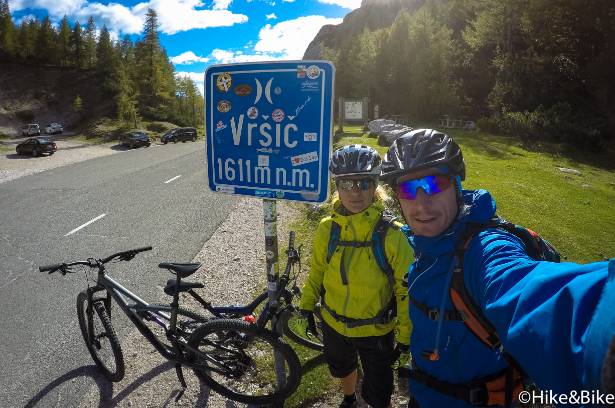 on top of the vrsic pass - 1611m