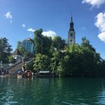 Bled island and the church