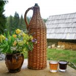homemade schnapps and alpine bouquet