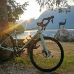 gravel bike by the lake bohinj