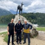 hiking by the lake bohinj