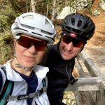 happy cyclists in bohinj valley