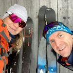 backcountry skiers in bohinj valley
