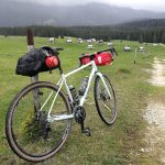 gravel bike on pokljuka plateau