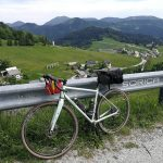 gravel bike and remote alpine village