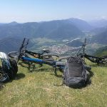 mountain bikes above soca valley